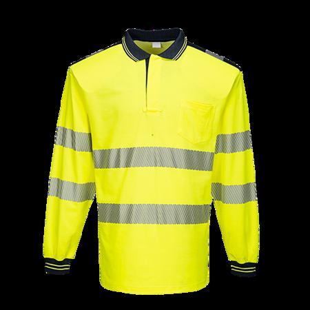 Koszulka ostrzegawcza polo z długim rękawem PW3