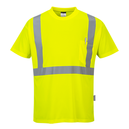 T-shirt ostrzegawczy z kieszonką